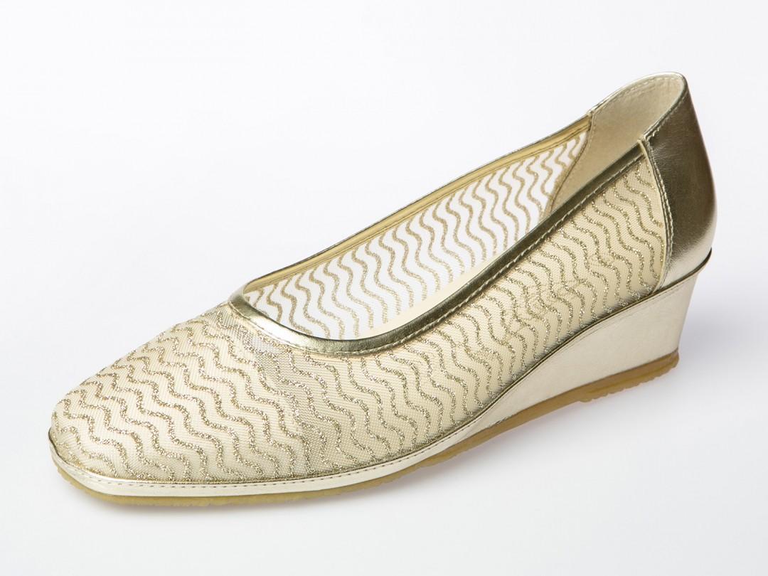 calzado colores metalizados zapato salón spiffy zapato de rejilla
