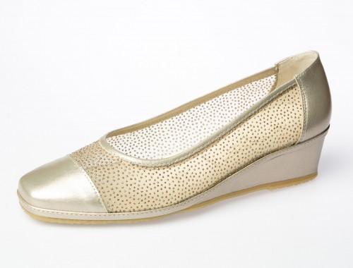 zapato salón spiffy zapato de rejilla calzado colores metalizados